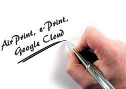 Airprint, ePrint, Google Cloud